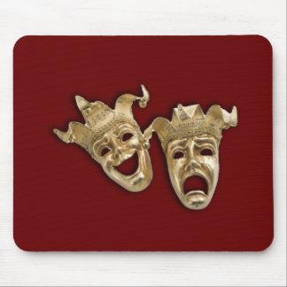 Teatro de la comedia y de la tragedia alfombrilla de ratón