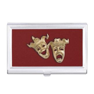 Teatro de la comedia y de la tragedia caja de tarjetas de negocios