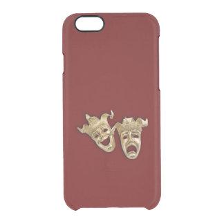 Teatro de la comedia y de la tragedia funda clearly™ deflector para iPhone 6 de uncommon