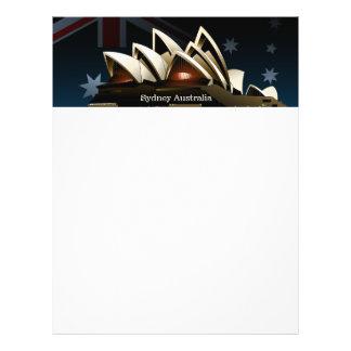 Teatro de la ópera de Sydney en la noche Flyer