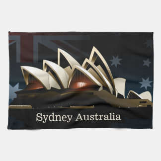 Teatro de la ópera de Sydney en la noche Paño De Cocina