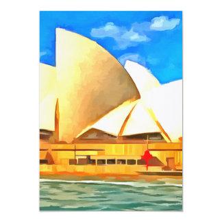 Teatro de la ópera hermoso de Sydney Invitación 12,7 X 17,8 Cm