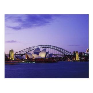 Teatro de la ópera y puerto, nuevo sur 2 de Sydney Tarjetas Postales
