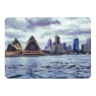 Teatro de la ópera y vista de Sydney Invitación 12,7 X 17,8 Cm