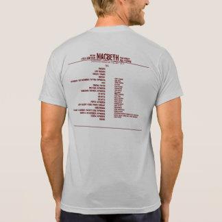 Teatro de repertorio de los náufragos de Macbeth Camisetas
