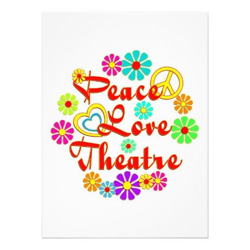Teatro del AMOR de la PAZ Invitacion Personalizada