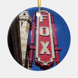 Teatro del Fox, Atlanta, Georgia, Felices Navidad Adorno Navideño Redondo De Cerámica