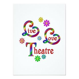 Teatro vivo del amor invitación 13,9 x 19,0 cm