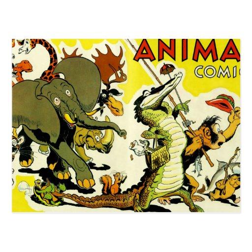 Tebeos animales tarjetas postales