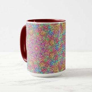 Techno colorea la taza combinada del caleidoscopio