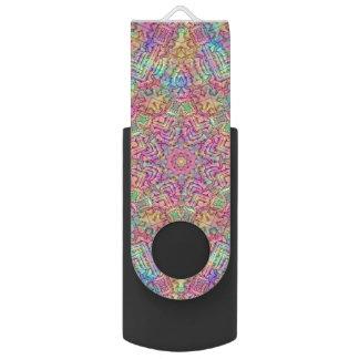 Techno colorea memoria USB     del caleidoscopio