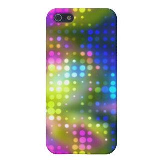Techno púrpura iPhone 5 protectores