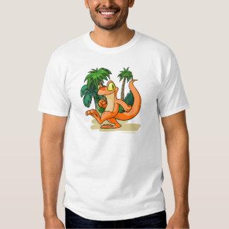 Techo anaranjado en una búsqueda de la isla del camisetas