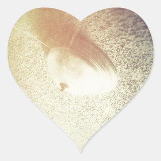 Techo chamuscado pegatina en forma de corazón