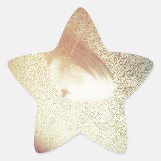 Techo chamuscado pegatina en forma de estrella