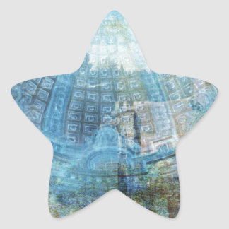 Techo de cristal pegatina en forma de estrella