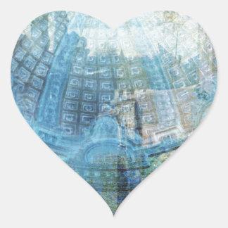 Techo de cristal pegatina en forma de corazón