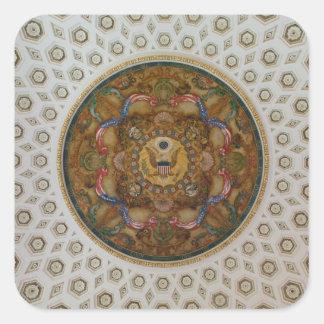 Techo de la Biblioteca del Congreso Calcomanía Cuadradase
