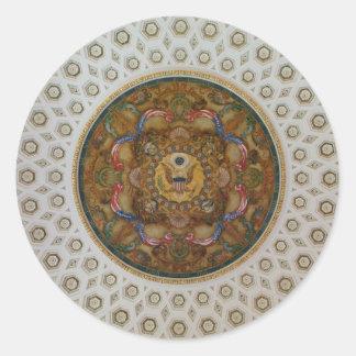 Techo de la Biblioteca del Congreso Etiquetas Redondas