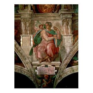 Techo de la capilla de Sistine: El profeta Isaías Postal