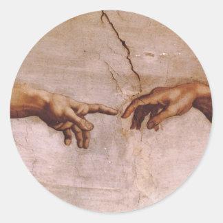 Techo de la capilla de Sistine Pegatina Redonda