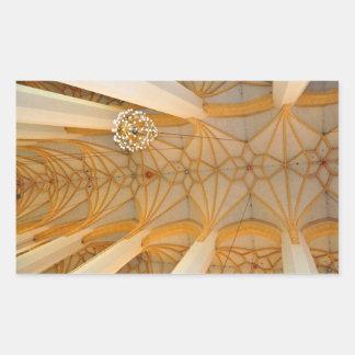 Techo de la iglesia rectangular pegatinas