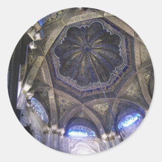 Techo de la Mezquita de Córdoba 13 Pegatina Redonda