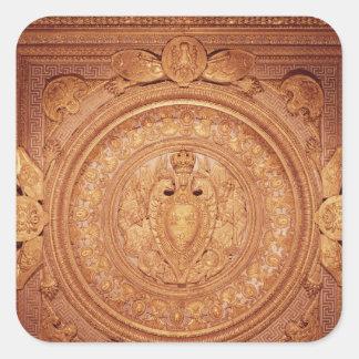 Techo del dormitorio de Enrique II Pegatinas Cuadradases