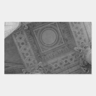 Techo del panteón pegatina rectangular