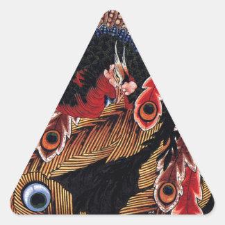 Techo del templo de Ganshoin en Obuse por Pegatina Triangular