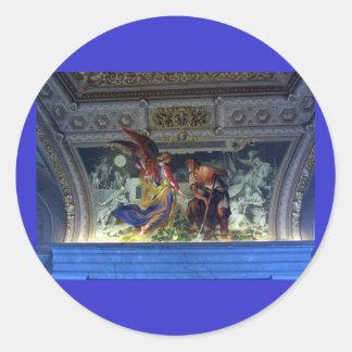 Techo en el museo de Vatican en Roma Pegatina Redonda