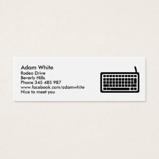 Teclado de ordenador tarjeta de visita mini