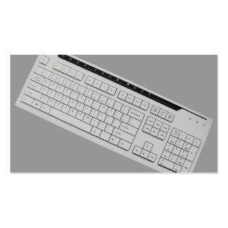 teclado de ordenador tarjeta de visita