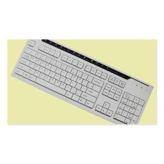 teclado de ordenador tarjetas de visita