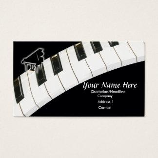 Teclado de piano de cola tarjeta de negocios