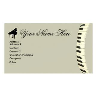Teclado de piano de cola tarjetas de visita
