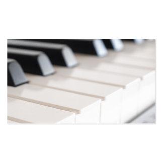 Teclado de piano de Digitaces Tarjeta De Visita