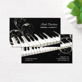 Teclado de piano+remolinos/tarjetas de visita del tarjeta de visita