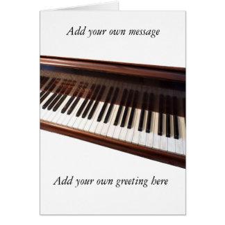 Teclado de piano tarjeton
