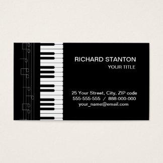 Teclado de piano tarjeta de negocios