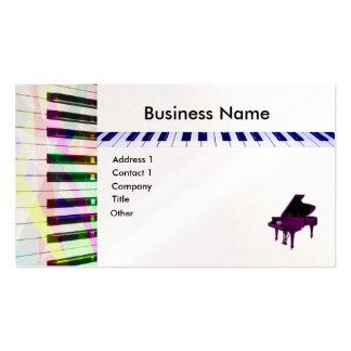 Teclado de piano tarjetas de visita