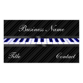 Teclado de piano plantillas de tarjetas personales