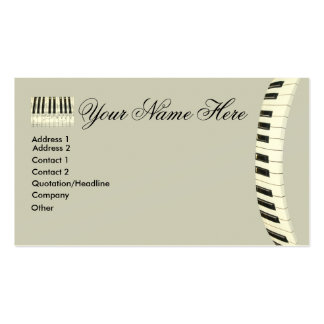 Teclado de piano tarjeta de visita