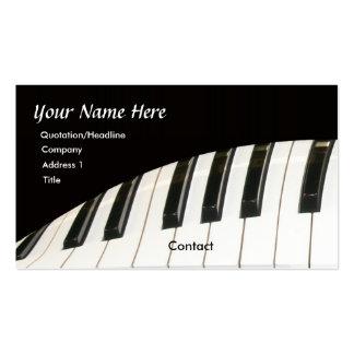 Teclado de piano y tarjeta de visita del piano de