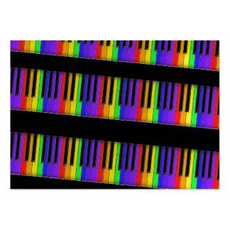 teclado del arco iris tarjetas de negocios