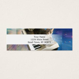 teclado del gato tarjeta de visita mini