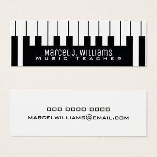 teclado del músico/profesor de música de las tarjeta de visita mini