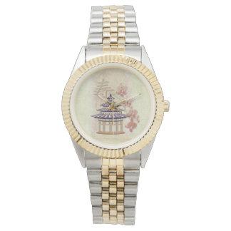 Técnicas mixtas subiós pagoda orientales relojes de pulsera