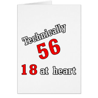 Técnico 56, 18 en el corazón tarjeta de felicitación