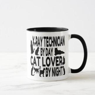 Técnico de la radiografía del amante del gato taza